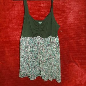 Torrid Babydoll Thin strapped cami Floral pattern